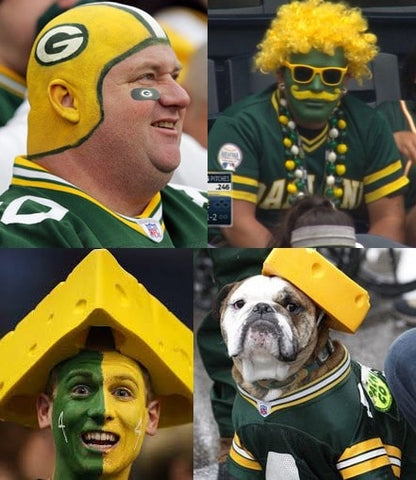 football fashion uberfan green bay packer cheese head