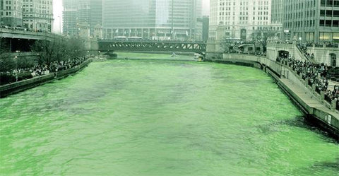 Dying the Chicago river green for St. Patrick's Day