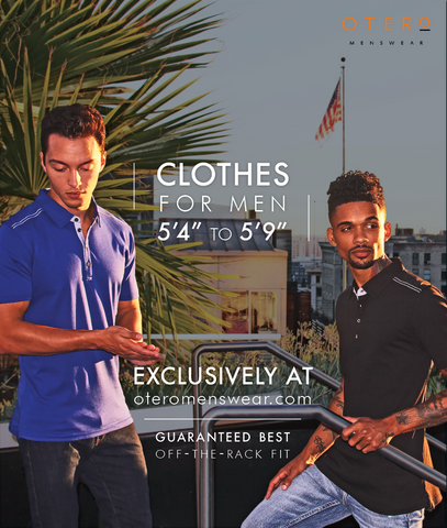 otero menswear - clothes for short men