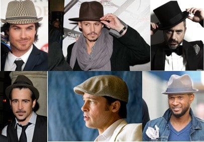different styles of mens hats