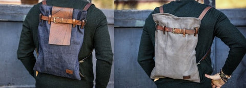 sliming otero menswear full grain leather backpacks
