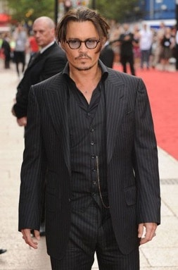 johnny depp dress style pinstripe suite