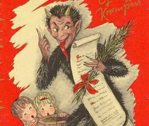 Krampus Austrian German Hungarian holiday tradition
