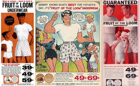 1960s fruit of the loom mens underwear advertisments