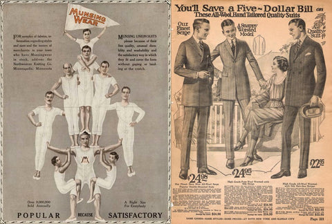 1900's full-body underwear, supported by your shoulders