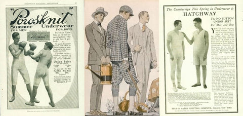 1910 mens underwear advertisement sample