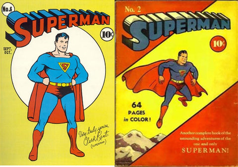 superman in colorful underwear advertisement