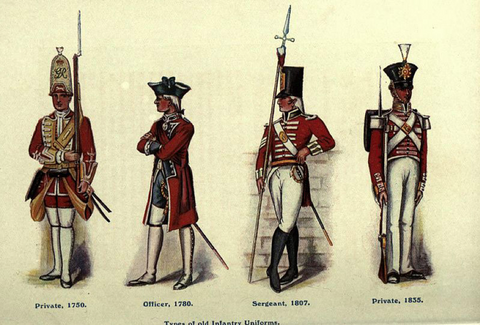 fancy british uniforms