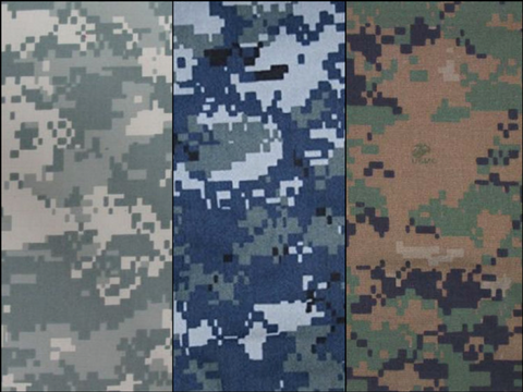 types of military uniform camouflage