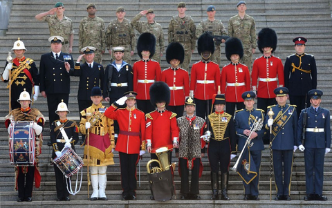 different types of military uniforms