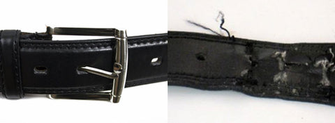 backed laminate leather belt