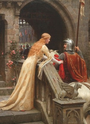 Medieval men took advantage of the holiday's association with Courtly Romance to send admiring letters to women