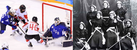 the beginning of olympic ice hockey