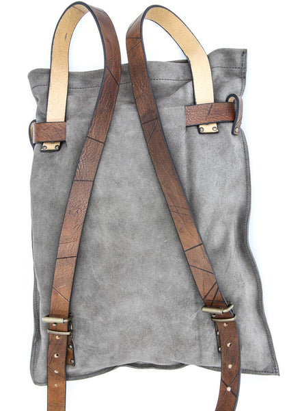 otero suede leather backpack