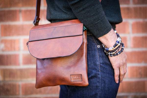 full grain leather crossbody bag