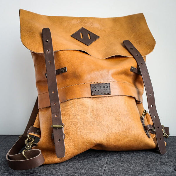 classic commuter leather backpack