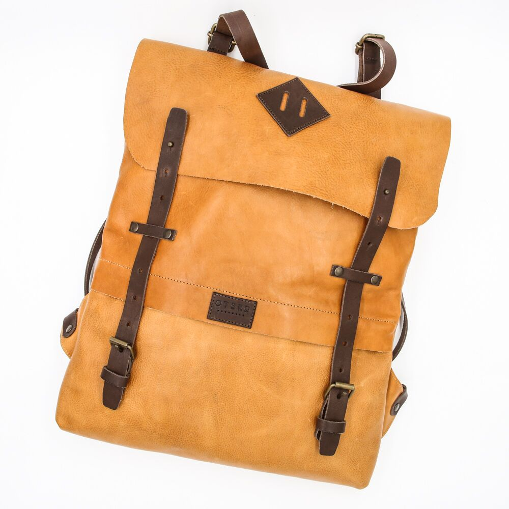 classic leather backpack