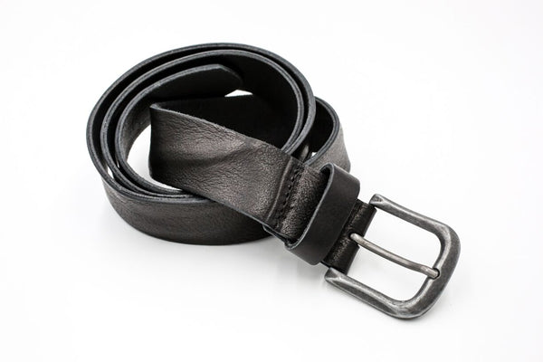 otero menswear distressed leather belt