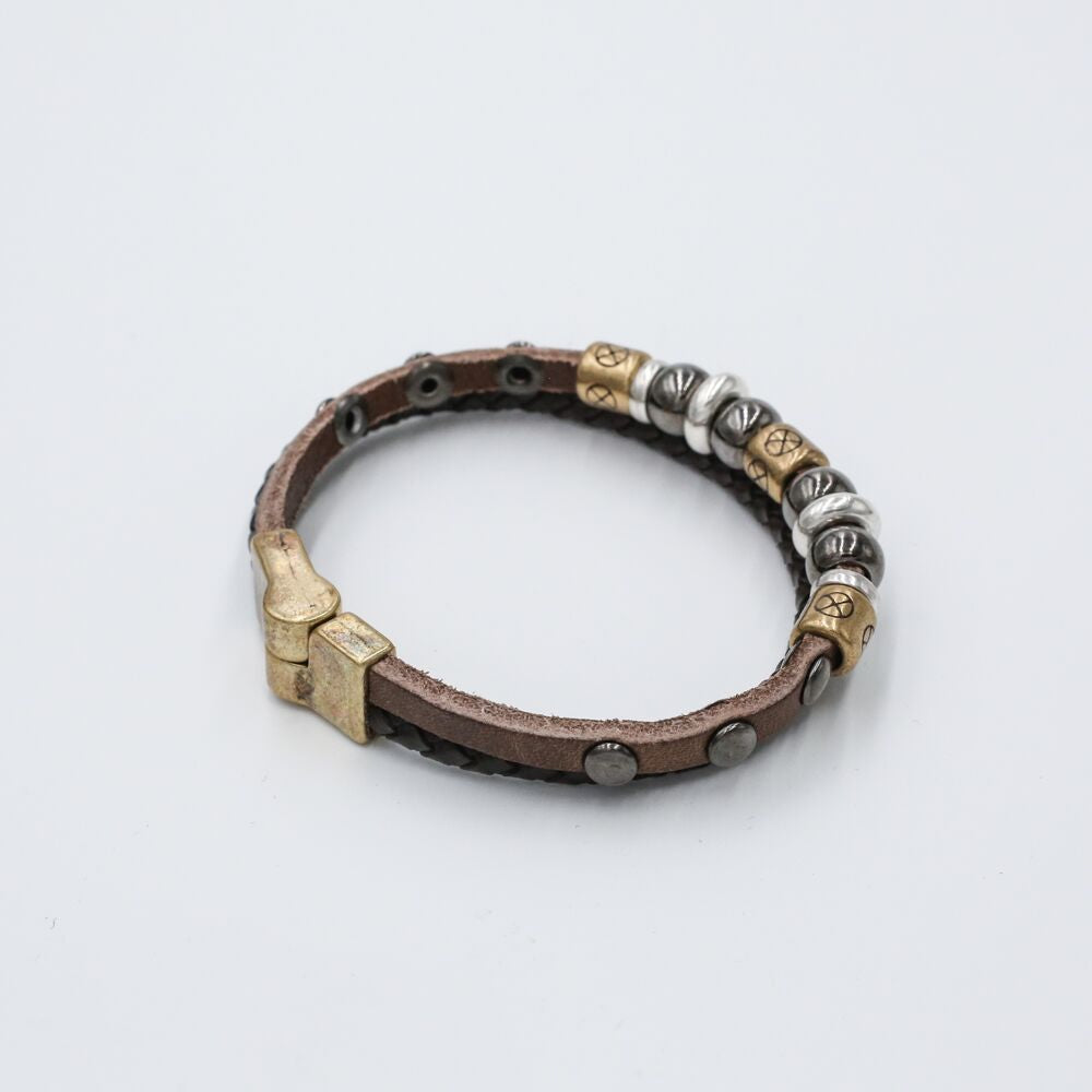 braided leather leather bracelet