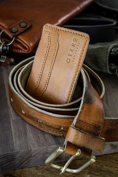 leather belt & wallet