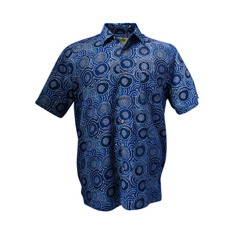 Men's bamboo shirt - Mina Mina Dreaming-Bamboo men's shirt-Oz About Oz