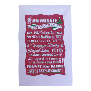 An Aussie Christmas tea towel-Tea towel-Oz About Oz