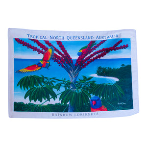 Tea towels - Rainbow Lorikeets-Tea towel-Oz About Oz