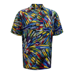 Men's bamboo shirt - Cockatoo Dreaming