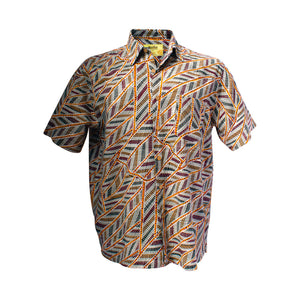 Men's bamboo shirt - Yirrkala Dreaming (East Arnhem Land)-Bamboo men's shirt-Oz About Oz