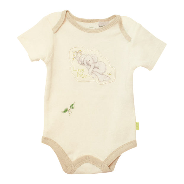 Koala baby onesie - lazy days short sleeve-Short sleeve onesie-Oz About Oz