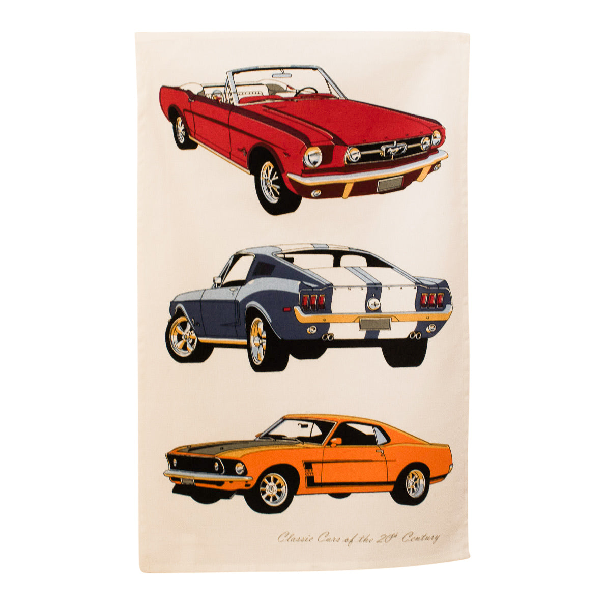 Tea towel - 60s & 70s classic Mustangs-Tea towel-Oz About Oz