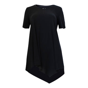 Bamboo swing tee - black-Bamboo tee-Oz About Oz