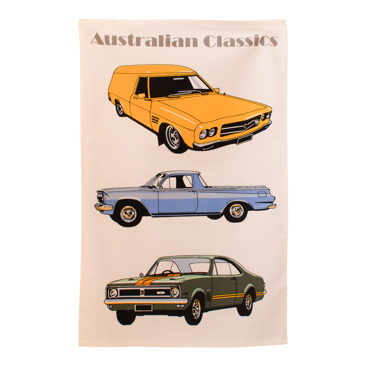 Tea towel - Holden classic cars-Tea towel-Oz About Oz