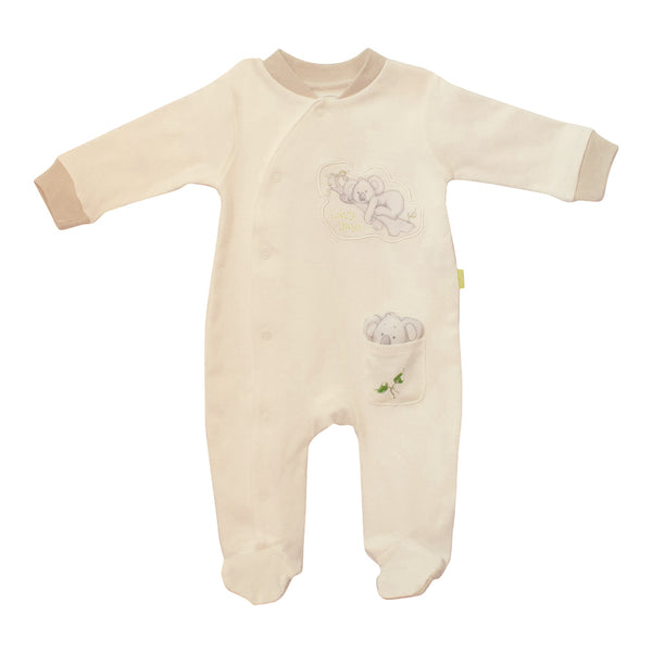 "Koala baby onesie -""lazy days"" long sleeves & with feet-Long sleeve baby onesie-Oz About Oz"