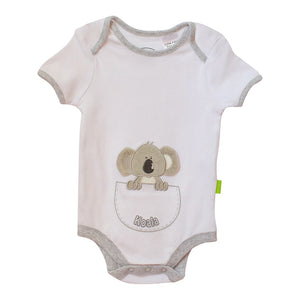 Koala baby onesie - summer short sleeve-Short sleeve onesie-Oz About Oz