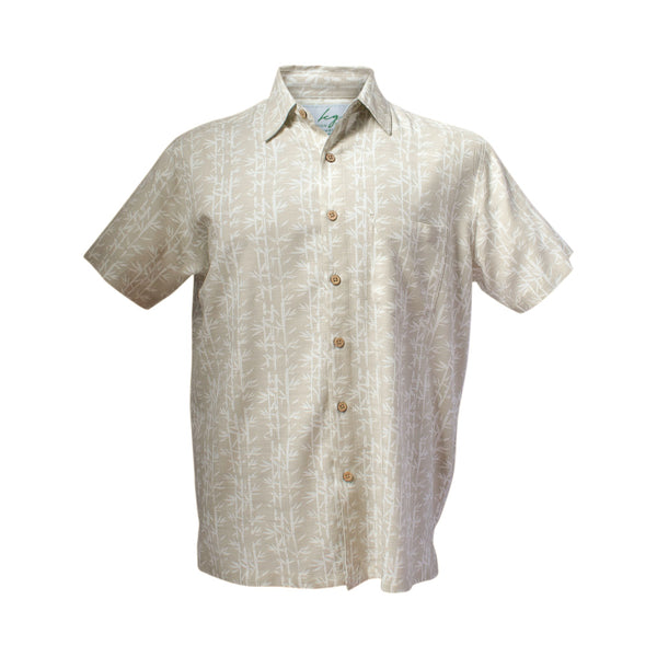 Men's bamboo shirts - sandy palm-Bamboo men's shirt-Oz About Oz