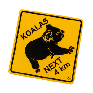 Australian road signs - koalas next 4 km - small, medium, large sizes-Road signs-Oz About Oz