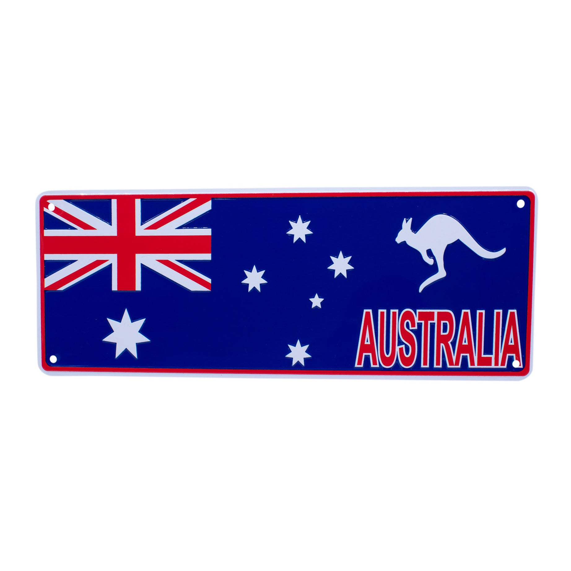 Novelty number plate - Australian flag-Car plates-Oz About Oz