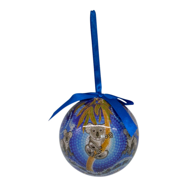 Aboriginal koala Christmas bauble decoration