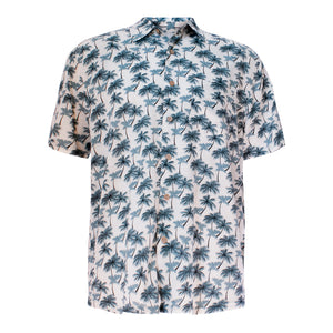 Men's bamboo shirt - paradise palms-Bamboo men's shirt-Oz About Oz