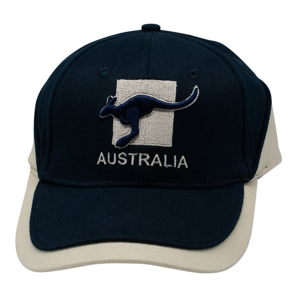 Caps - Australia with kangaroos-Men's caps-Oz About Oz