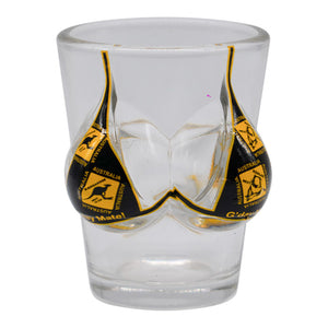 Novelty shot glasses - Aussie road sign or flag bikini-Shot glasses-Oz About Oz