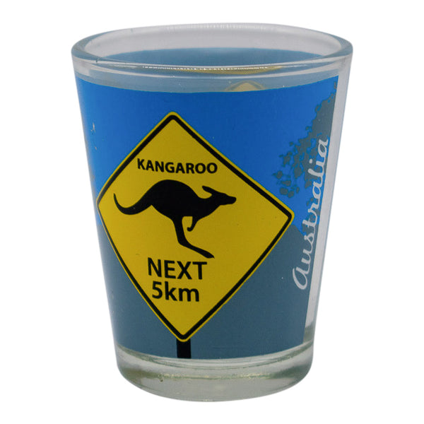 Shot glasses -Australian road signs- kangaroo or koalas-Shot glasses-Oz About Oz