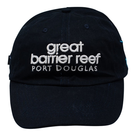 Caps - Great Barrier Reef, Australia - black with fish & shark-Men's caps-Oz About Oz