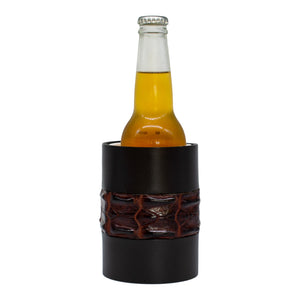 Stubby cooler - crocodile leather