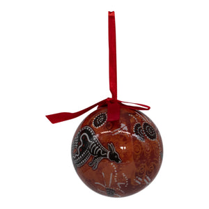 Aboriginal kangaroo Christmas bauble decoration