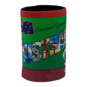 Seasons Greetings - Australia stubby holder-Stubby holders-Oz About Oz