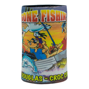 Stubby holder - gone fishing in croc country-Stubby holders-Oz About Oz