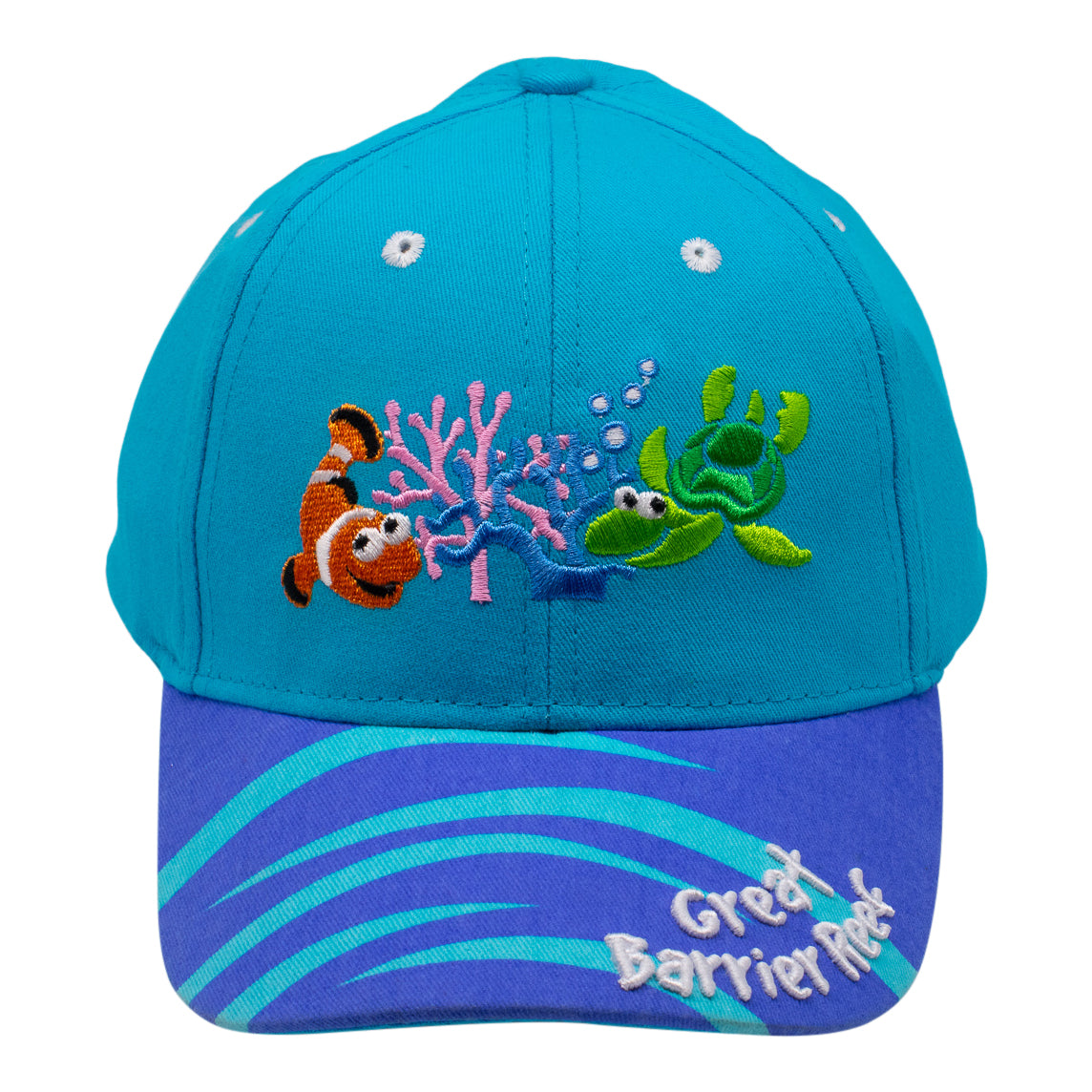 Kids cap Australia- Great Barrier Reef - aqua-Kids caps-Oz About Oz