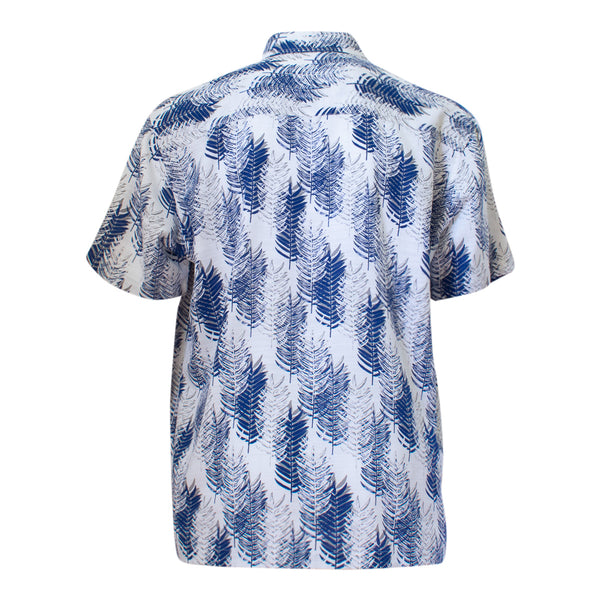 Men's bamboo shirt - navy pines